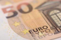 Ευρο- τραπεζογραμμάτιο και νόμισμα της Ευρώπης Στοκ φωτογραφίες με δικαίωμα ελεύθερης χρήσης