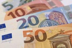 Ευρο- τραπεζογραμμάτιο και νόμισμα της Ευρώπης Στοκ εικόνα με δικαίωμα ελεύθερης χρήσης