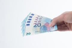 20 ευρο- τραπεζογραμμάτιο 2015 Στοκ φωτογραφία με δικαίωμα ελεύθερης χρήσης