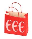 Ευρο- τσάντα αγορών Στοκ Εικόνες