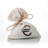 ΕΥΡΟ- τσάντα χρημάτων Στοκ εικόνα με δικαίωμα ελεύθερης χρήσης