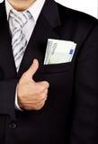 ευρο- τσέπη τραπεζογραμμ& Στοκ φωτογραφίες με δικαίωμα ελεύθερης χρήσης