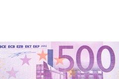 ευρο- υπόβαθρο λεπτομέρειας σημειώσεων 500 Στοκ εικόνα με δικαίωμα ελεύθερης χρήσης