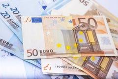 Ευρο- υπόβαθρο νομίσματος/χρημάτων/ευρο- ανταλλαγή Στοκ Εικόνες