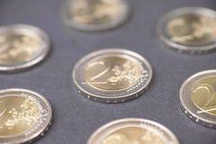 Ευρο- υπόβαθρο νομισμάτων Στοκ εικόνα με δικαίωμα ελεύθερης χρήσης
