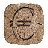 ευρο- φλογερό σύμβολο σειράς απεικονίσεων Στοκ Εικόνα