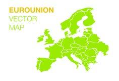Ευρο- χάρτης ένωσης Στοκ Φωτογραφία