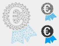 Ευρο- χαρακτηρισμένα πρότυπο σφαγίων πλέγματος τιμών διανυσματικά και εικονίδιο μωσαϊκών τριγώνων διανυσματική απεικόνιση