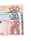ευρο- χρήματα λεπτομέρει& Στοκ Εικόνες