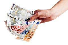 ευρο- χρήματα μερών Στοκ εικόνα με δικαίωμα ελεύθερης χρήσης