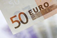 ευρο- χρήματα νομίσματος στοκ φωτογραφία