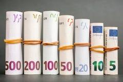 ευρο- χρήματα πεδίων βάθους ανασκόπησης απότομα στοκ φωτογραφία με δικαίωμα ελεύθερης χρήσης