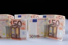 ευρο- χρήματα πεδίων βάθους ανασκόπησης απότομα Στοκ Φωτογραφίες