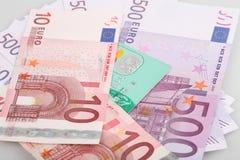 ευρο- χρήματα τραπεζογραμματίων Στοκ Εικόνες