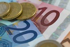 Ευρο- χρήματα Στοκ φωτογραφία με δικαίωμα ελεύθερης χρήσης