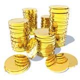 ευρο- χρυσός δολαρίων νομισμάτων Στοκ Εικόνες