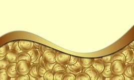 ευρο- χρυσός δολαρίων νομισμάτων διανυσματική απεικόνιση