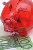 ευρο- piggy στάση τραπεζογρα Στοκ Εικόνα