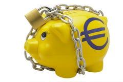 ευρο- piggy τραπεζών Στοκ Εικόνες