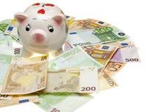 ευρο- piggy τραπεζών Στοκ εικόνες με δικαίωμα ελεύθερης χρήσης