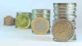 Ευρωνόμισμα απόθεμα βίντεο