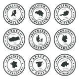 Ευρωπαϊκά γραμματόσημα καθορισμένα Στοκ Εικόνα