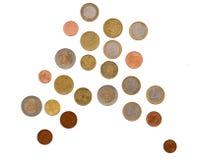 Ευρωπαϊκά ευρο- νομίσματα, που απομονώνονται στο λευκό 10 αυστραλιανά κομμάτια νομίσματος αλλαγής σεντ μικρά στοκ φωτογραφία με δικαίωμα ελεύθερης χρήσης