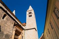 Ευρωπαϊκά κτήρια κάστρων της Πράγας στα τσέχικα στοκ φωτογραφία με δικαίωμα ελεύθερης χρήσης