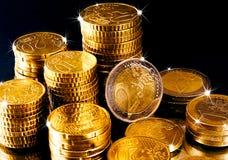 Ευρωπαϊκά νομίσματα χρημάτων Στοκ φωτογραφία με δικαίωμα ελεύθερης χρήσης