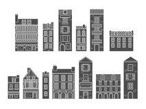 ευρωπαϊκά σπίτια απεικόνιση αποθεμάτων