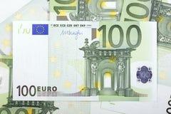 Ευρωπαϊκά χρήματα ένα υπόβαθρο Στοκ Φωτογραφία