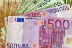 ευρωπαϊκά χρήματα στοκ εικόνες