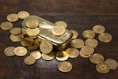 Ευρωπαϊκά χρυσά νομίσματα Στοκ φωτογραφίες με δικαίωμα ελεύθερης χρήσης