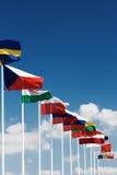Ευρωπαϊκές σημαίες χωρών Στοκ Φωτογραφία