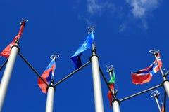 ευρωπαϊκές σημαίες Στοκ εικόνες με δικαίωμα ελεύθερης χρήσης