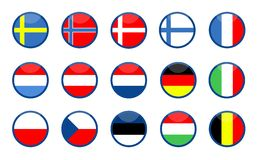 ευρωπαϊκές σημαίες απεικόνιση αποθεμάτων
