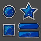ευρωπαϊκή ένωση εικονιδίων σημαιών συλλογής Στοκ Εικόνα