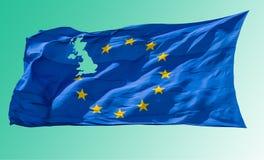 ευρωπαϊκή ένωση σημαιών Brexit Στοκ φωτογραφία με δικαίωμα ελεύθερης χρήσης