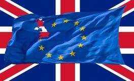 ευρωπαϊκή ένωση σημαιών Brexit Στοκ φωτογραφίες με δικαίωμα ελεύθερης χρήσης
