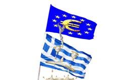 Ευρωπαϊκή Ένωση της Ελλάδας και Στοκ Εικόνες