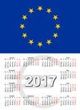 Ευρωπαϊκή Ένωση calendar2017 Στοκ Εικόνες