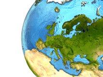 Ευρωπαϊκή ήπειρος στη γη Στοκ φωτογραφία με δικαίωμα ελεύθερης χρήσης