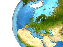 Ευρωπαϊκή ήπειρος στη γη Στοκ Φωτογραφίες