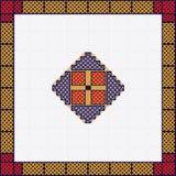 Ευρωπαϊκή εθνική διακόσμηση, σχέδιο πολύχρωμος επίσης corel σύρετε το διάνυσμα απεικόνισης Στοκ Εικόνες