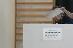 Ευρωπαϊκή εκλογή στο Βουκουρέστι, Ρουμανία στοκ εικόνες με δικαίωμα ελεύθερης χρήσης
