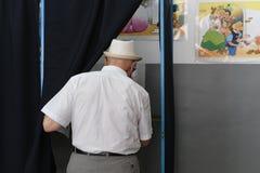 Ευρωπαϊκή εκλογή στο Βουκουρέστι, Ρουμανία στοκ φωτογραφίες