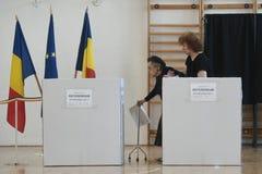 Ευρωπαϊκή εκλογή στο Βουκουρέστι, Ρουμανία στοκ φωτογραφία