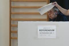Ευρωπαϊκή εκλογή στο Βουκουρέστι, Ρουμανία στοκ φωτογραφίες με δικαίωμα ελεύθερης χρήσης
