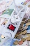 Ευρωπαϊκή ενεργειακή έννοια χρημάτων στοκ φωτογραφίες με δικαίωμα ελεύθερης χρήσης