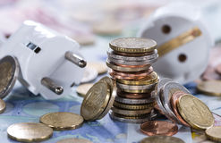 Ευρωπαϊκή ενεργειακή έννοια χρημάτων στοκ φωτογραφία με δικαίωμα ελεύθερης χρήσης